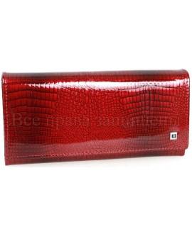 Лаковый кошелёк бордовый кожаный H-AE501-JUJUBE-RED