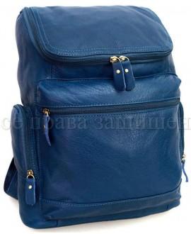 Рюкзак из натуральной кожи синий SKbp1017-blue