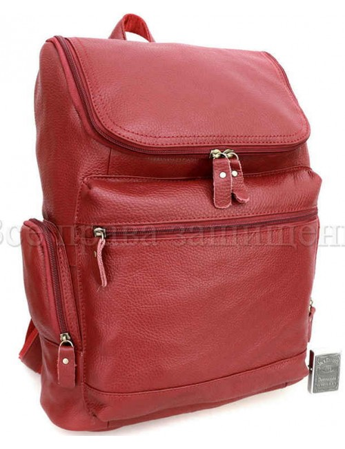 Рюкзак из натуральной кожи бордовый SKbp1017-jujube-red