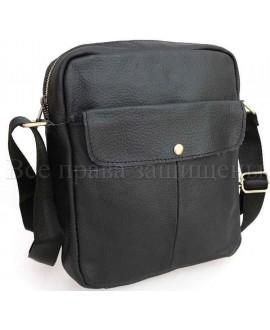 Практичная кожаная сумка через плечо SKnx9-black