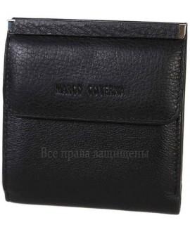 Стильный мужской кошелек двойного сложения из натуральной кожи MC-213B-BLACK-opt в категории купить оптом мужские кошельки Днепропетровск