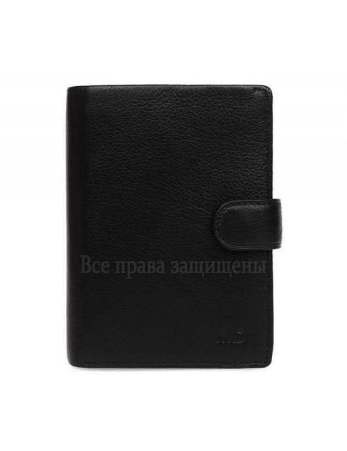 Мужской кошелек из высококачественной натуральной кожи черного цвета с визитницей MD-22-302-opt в категории купить мужские кошельки оптом Украина