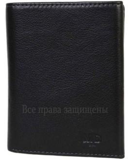 Мужской кошелек из высококачественной натуральной кожи черного цвета MD-22-604-A-opt в категории купить мужские кошельки оптом Полтава