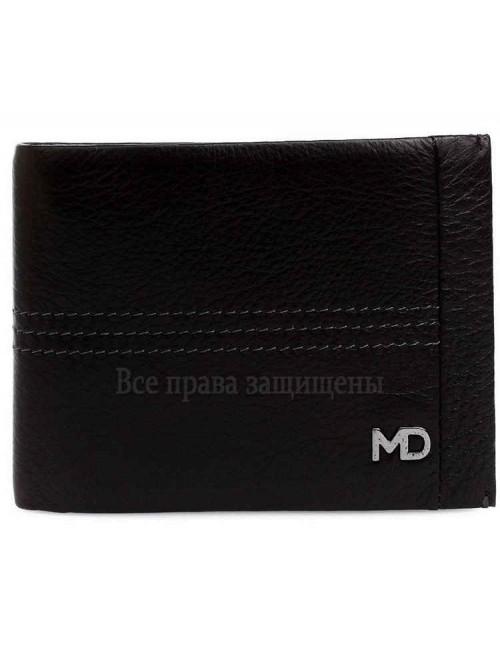 Стильный мужской кошелек двойного сложения из натуральной кожи с зажимом для купюр MD-Leather (MD-555-1-opt) в категории купить мужские кошельки оптом Украина