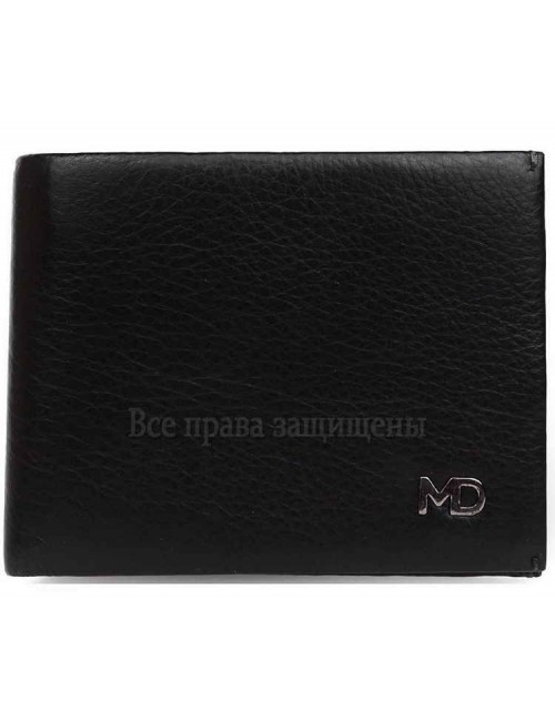 Стильный мужской кошелек двойного сложения из натуральной кожи с зажимом для купюр MD-Leather Collection (MD-555-10-opt) в категории купить мужские кошельки оптом Одесса