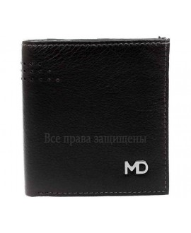 Модный мужской кошелек двойного сложения из натуральной кожи с монетницей MD-Leather (MD-605-А-opt) в категории купить мужские кошельки оптом в Харькове