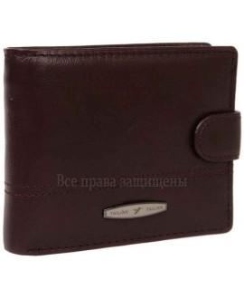 Кожаный кошелек двойного сложения каштанового цвета для солидных мужчин T-151D-CRIMSON-opt в категории купить мужские кошельки оптом Одесса