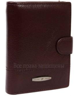 Кожаное портмоне бизнес-класса из натуральной кожи каштанового цвета для солидных мужчин T-265D-CRIMSON-opt в категории купить мужские кошельки оптом Днепропетровск