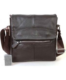 Повседневная мужская кожаная сумка коричневого цвета от ALVI AV-0303-BROWN