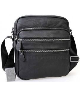 Стильная мужская кожаная сумка черного цвета от ALVI AV-0301-BLACK