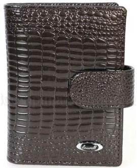 Стильная визитница Cossroll черного цвета D01-1034-6-GREY