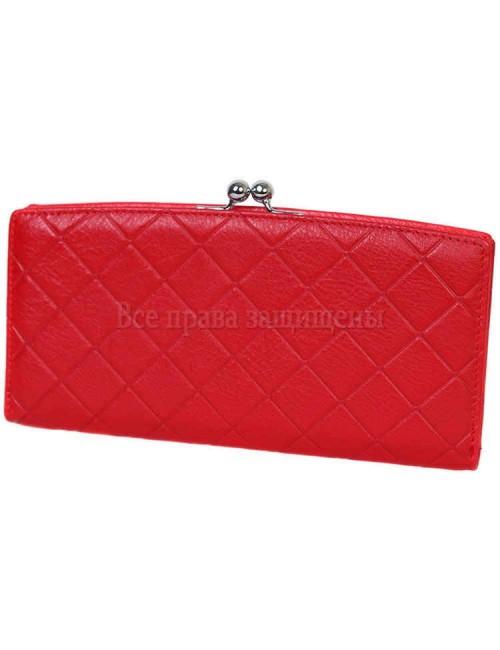 Стильный кошелек из натуральной кожи красного цвета MC-2065-2-opt в категории купить оптом женские кошельки Львов