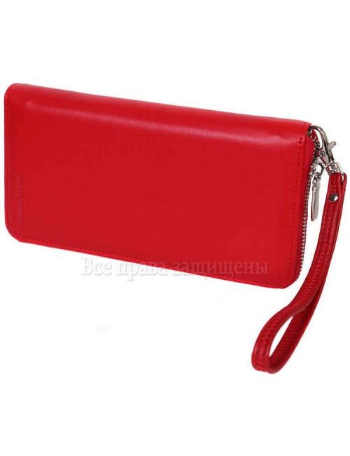Женский кошелек для нагрудного кармана из натуральной кожи красного цвета MC-7003-2-opt в категории купить оптом женские кошельки Украина