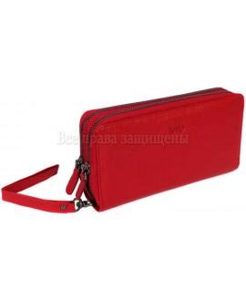 Стильный кошелек из натуральной кожи красного цвета MD-Leather (MD-22-7013-C-opt) в категории купить оптом женские кошельки Украина