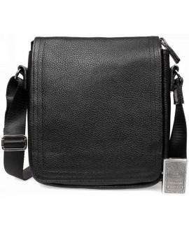 Кожаная мужская сумка через плечо с клапаном черная av-9-7082 купить сумки оптом в одессе