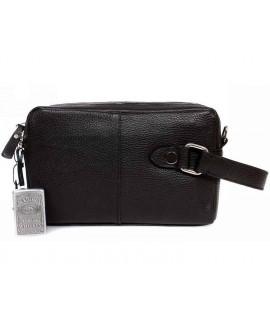 Кожаная мужская сумка- борсетка с плечевым ремнем av-4-641A категории мужские сумки оптом одесса