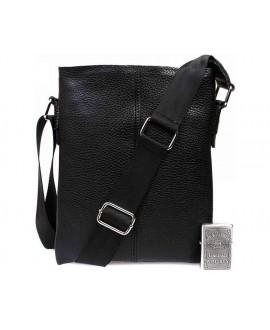 Удобная мужская кожаная повседневная сумка через плече av-104black в категории сумки оптом одесса дешево