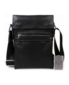 Небольшая мужская кожаная сумка для документов черная av-95black в категории сумки оптом харьков от производителя ALVI