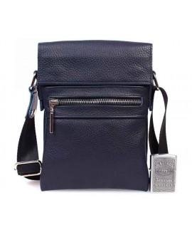 Небольшая мужская кожаная сумка для документов синяя av-95blue категории мужские сумки оптом одесса
