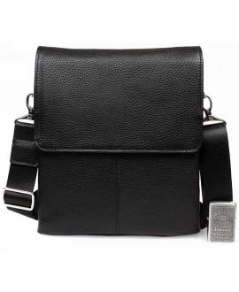 Элегантная мужская кожаная сумка с клапаном и наплечным ремнем av-30-9721 категории мужские сумки оптом одесса