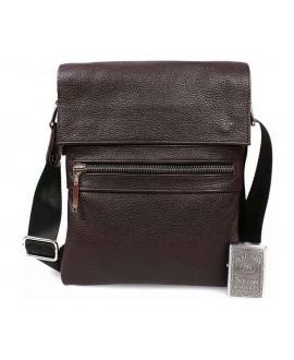Мужская кожаная сумка коричневого цвета из горизонтальная av-96brown в категории сумки опт ком юа