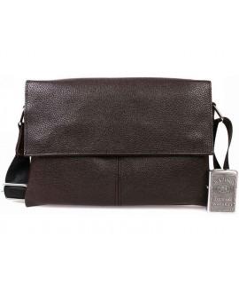 Стильная мужская кожаная сумка оптом через плечо деловая коричневого цвета av-105brown в категории сумки опт ком юа