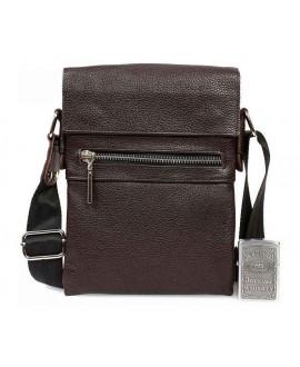 Мужская кожаная сумка через плечо коричневая av-95brown в категории сумки оптом харьков от производителя