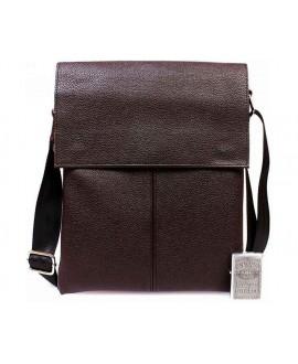 Мужская сумка через плечо коричневая средняя av-101brown в категории сумки оптом одесса 7 км