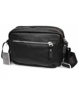 Элитная мужская кожаная сумка горизонтального типа черная av-30-0092 в категории сумки оптом харьков барабашово