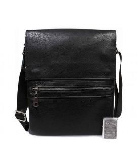 Стильная мужская кожаная сумка для повседневного использования с плечевым ремнем av-99black в категории сумки оптом харьков от производителя ALVI