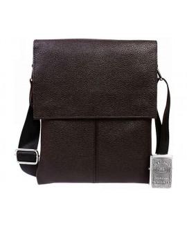 Элитная мужская сумка из натуральной кожи коричневая в категории сумки оптом av-106brown