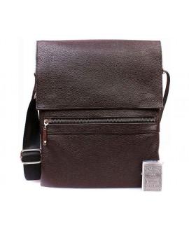 Мужская кожаная сумка через плечо с клапаном коричневая av-99brown в категории мужские сумки оптом украина