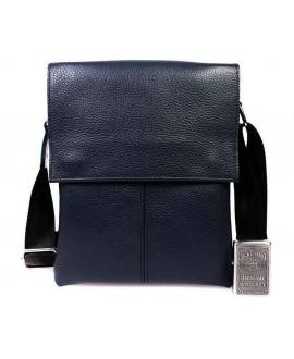 Мужская кожаная сумка синяя через плечо av-106blue в категории мужские сумки оптом украина в категории сумки опт ком юа