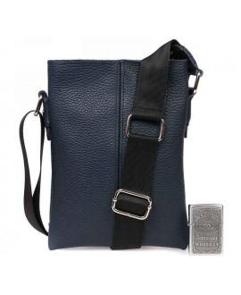 Синяя кожаная сумка через плечо для документов водителя av-97blue в категории кожаные сумки оптом