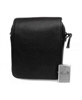 Кожный мессенджер черный с клапаном av-9263 в категории сумки оптом одесса дешево