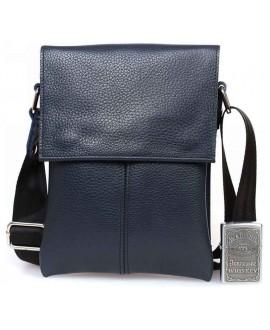 Синяя кожаная сумка для документов через плечо сумки оптом одесса av-140blue в категории кожаные сумки оптом