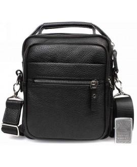 Недорогая мужская кожаная сумка с ручкой и наплечным ремнем av-40-5150 в категории кожаные сумки оптом