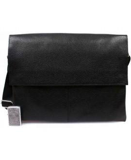 Деловая кожаная сумка на каждый день для ноутбука и документов А4 av-102black категории мужские сумки оптом одесса