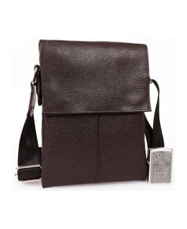 мужская кожаная сумка для бумажника и телефона небольшая коричневая av-140brown в категории кожаные сумки оптом